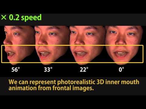 Automatic Photorealistic 3D Inner Mouth Restoration from Frontal Images 【ISVC2014】