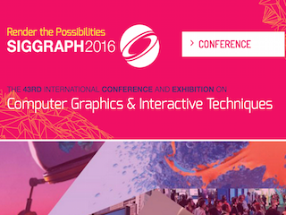 【受賞】SIGGRAPH Student Research Competition Gold Medal