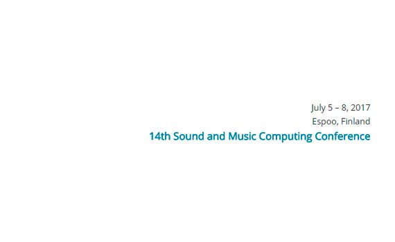 Sound and Music Computing 2017(SMC 2017)