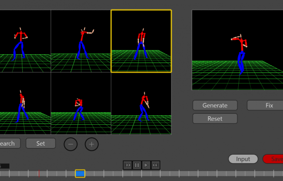 Authoring System for Choreography Using Dance Motion Retrieval and Synthesis