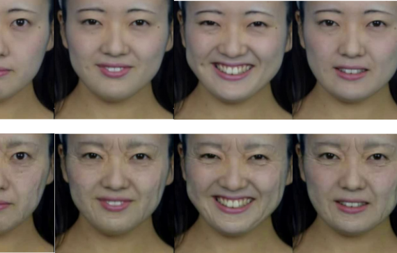 Facial Video Age Progression Considering Expression Change