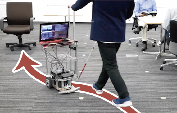 BlindPilot: A Robotic Local Navigation System that Leads Blind People to a Landmark Object